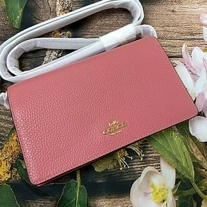 MOVING SALE! NWT Pink Coach Foldover Crossbody Bag